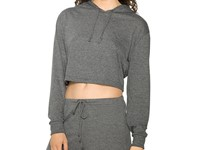 American Apparel Women`s Tri-Blend Cropped Hoodie