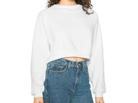 American Apparel Women`s Flex Fleece Crop Pullover