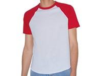 American Apparel Unisex Poly-Cotton Short Sleeve Raglan T-Shirt