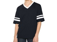 American Apparel Unisex Poly-Cotton V-Neck Football T-Shirt
