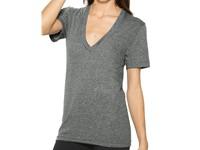 American Apparel Unisex Tri-Blend Shortsleeve Deep V-Neck T-Shirt