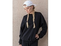 Build Your Brand Ladies` Oversize Crewneck