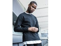 Build Your Brand Longsleeve Tee with cuffrib