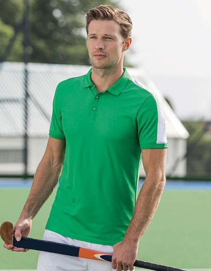 Finden+Hales Adults` Contrast Panel Polo