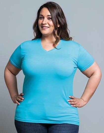 JHK Curves T-Shirt V-Neck Lady