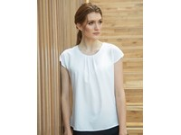 Henbury Ladies` Pleat Front Short Sleeve Blouse