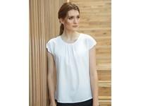 Henbury Ladies` Pleat Front Short Sleeve Blouse