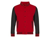 Just Hoods Letterman Jacket