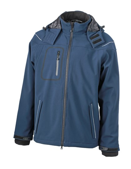 James+Nicholson Men`s Winter Softshell Jacket