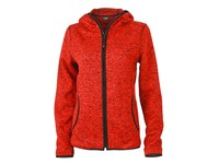 James+Nicholson Ladies` Knitted Fleece Hoody