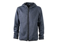 James+Nicholson Men`s Knitted Fleece Hoody