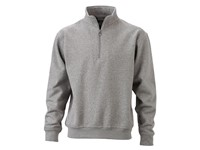 James+Nicholson Workwear Half Zip Sweat