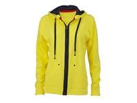 James+Nicholson Ladies` Urban Hooded Sweat Jacket