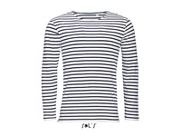 SOL´S Men`s Long Sleeve Striped T-Shirt Marine