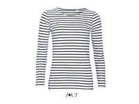 SOL´S Women`s Long Sleeve Striped T-Shirt Marine