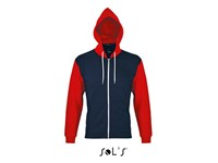SOL´S Hooded Zipped Jacket Silver