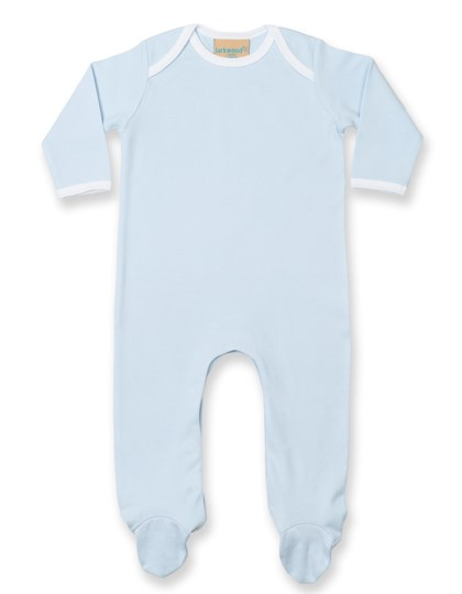 Larkwood Contrast Long Sleeved Sleepsuit