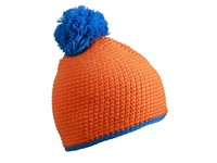 myrtle beach Pompon Hat with Contrast Stripe
