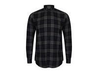 SF Men Men`s Brushed Check Casual Shirt