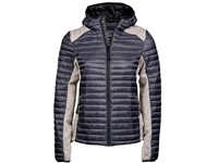 Tee Jays Ladies` Hooded Outdoor Crossover Jacket