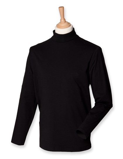 Henbury Roll-Neck Long-Sleeve Top