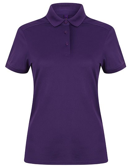 Henbury Ladies` Stretch Polo Shirt + Wicking Finish