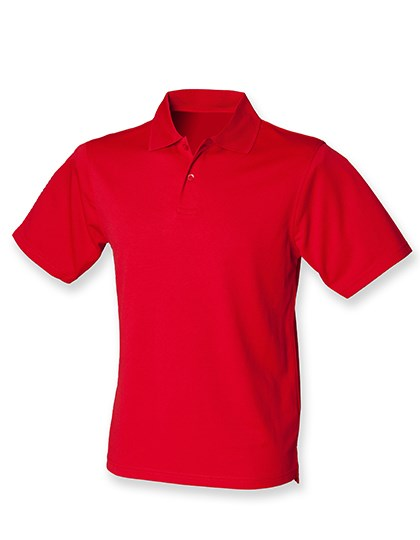 Henbury Men`s Coolplus Wicking Polo Shirt