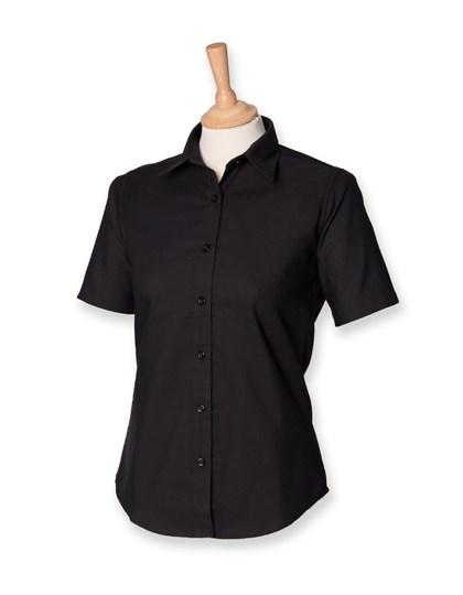 Henbury Ladies` Classic Short Sleeved Oxford Shirt