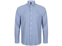 Henbury Men`s Gingham Cofrex/Pufy Wicking Long Sleeved Shirt