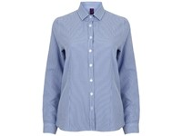 Henbury Ladies` Gingham Cofrex/Pufy Wicking Long Sleeved Shirt