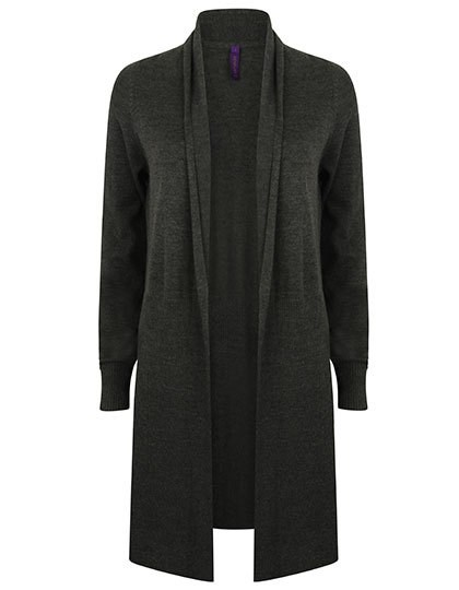 Henbury Ladies` Longline Open Cardigan