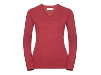Russell Collection Ladies` V-Neck Knitted Pullover