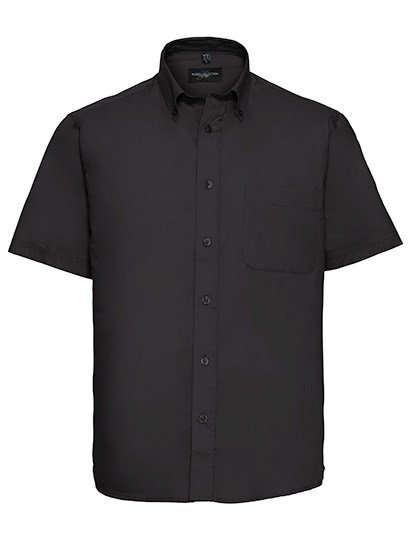 Russell Collection Men`s Short Sleeve Classic Twill Shirt