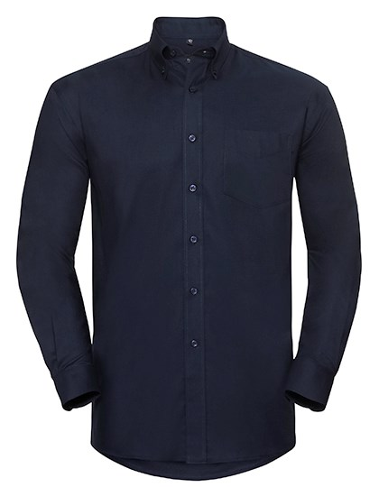 Russell Collection Men`s Long Sleeve Classic Oxford Shirt