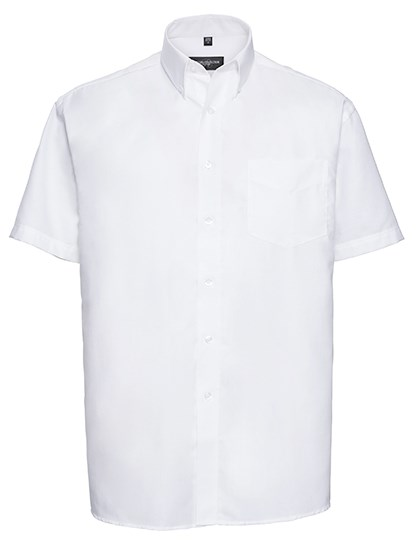 Russell Collection Men`s Short Sleeve Classic Oxford Shirt