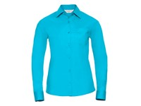 Russell Collection Ladies` Long Sleeve Classic Polycotton Poplin Shirt