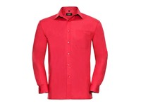 Russell Collection Men`s Long Sleeve Classic Pure Cotton Poplin Shirt