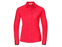 Russell Collection Ladies` Long Sleeve Classic Pure Cotton Poplin Shirt