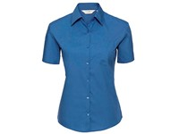 Russell Collection Ladies` Short Sleeve Classic Pure Cotton Poplin Shirt