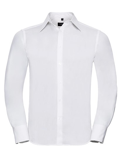 Russell Collection Men`s Long Sleeve Fitted Tencel® Shirt