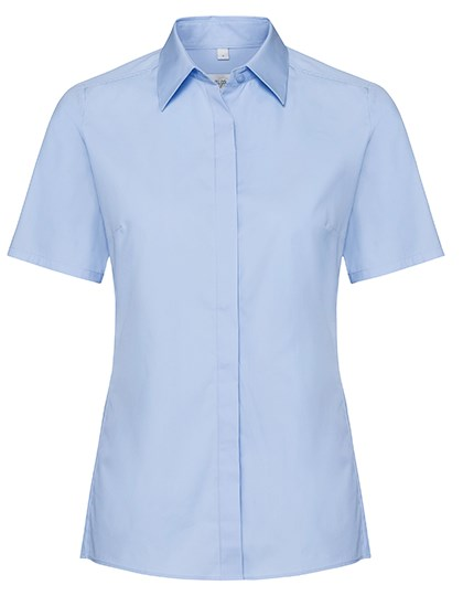 Russell Collection Ladies` Short Sleeve Fitted Ultimate Stretch Shirt