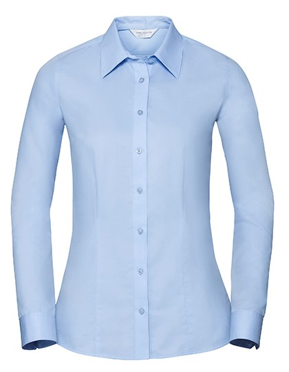 Russell Collection Ladies` Long Sleeve Tailored Coolmax® Shirt