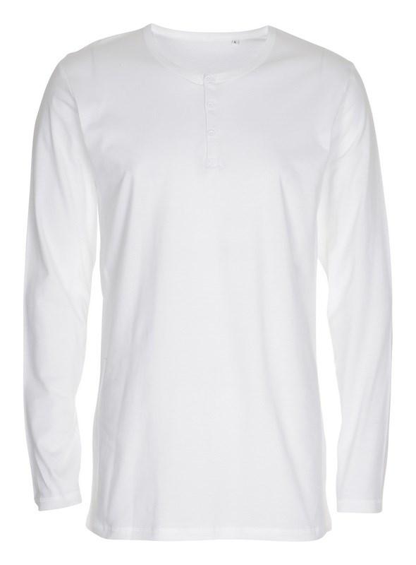 Labelfree T-shirt, lange mouw met knoopjes 1114