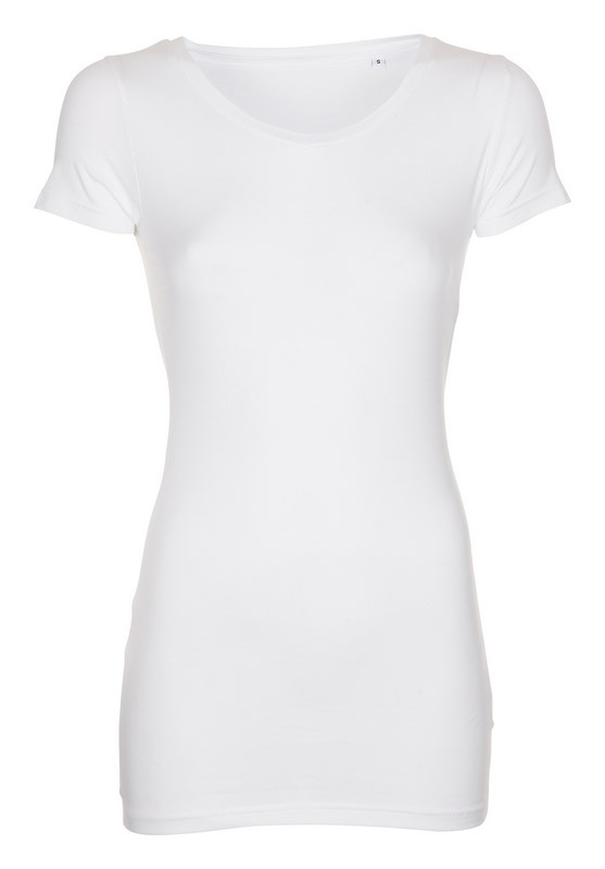 Labelfree T-shirt v-hals, stretch 1117