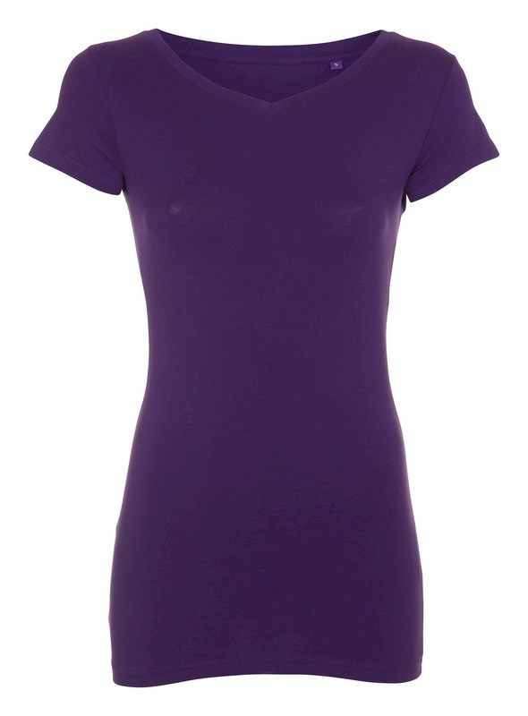Labelfree T-shirt v-hals, stretch 1117