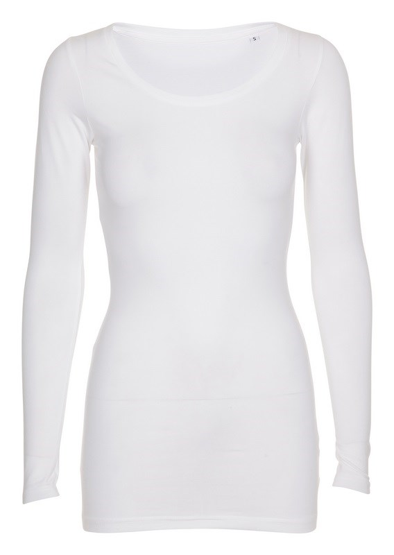 Labelfree T-shirt lange mouw, stretch 1118