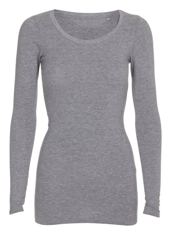 Labelfree T-shirt lange mouw, stretch 1118