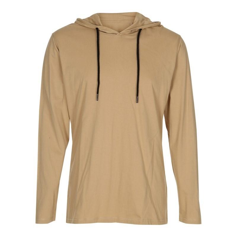 Labelfree T-shirt, lange mouw en capuchon 1120