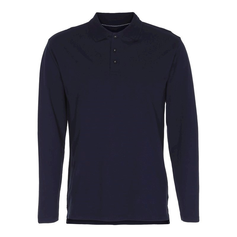 Labelfree stretchpolo lange mouw 2107