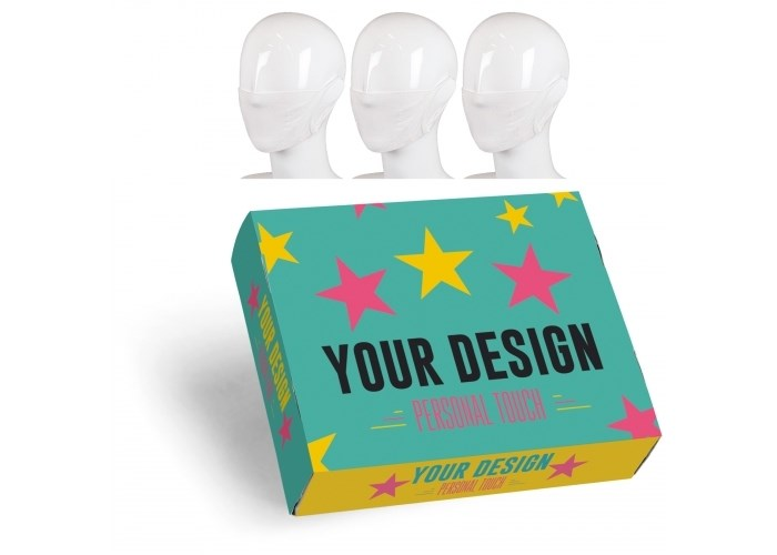 Set van 3 maskers in custom-made geschenkdoos